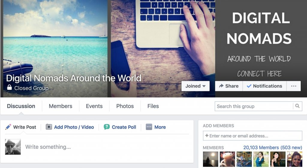 Digital Nomad Facebook