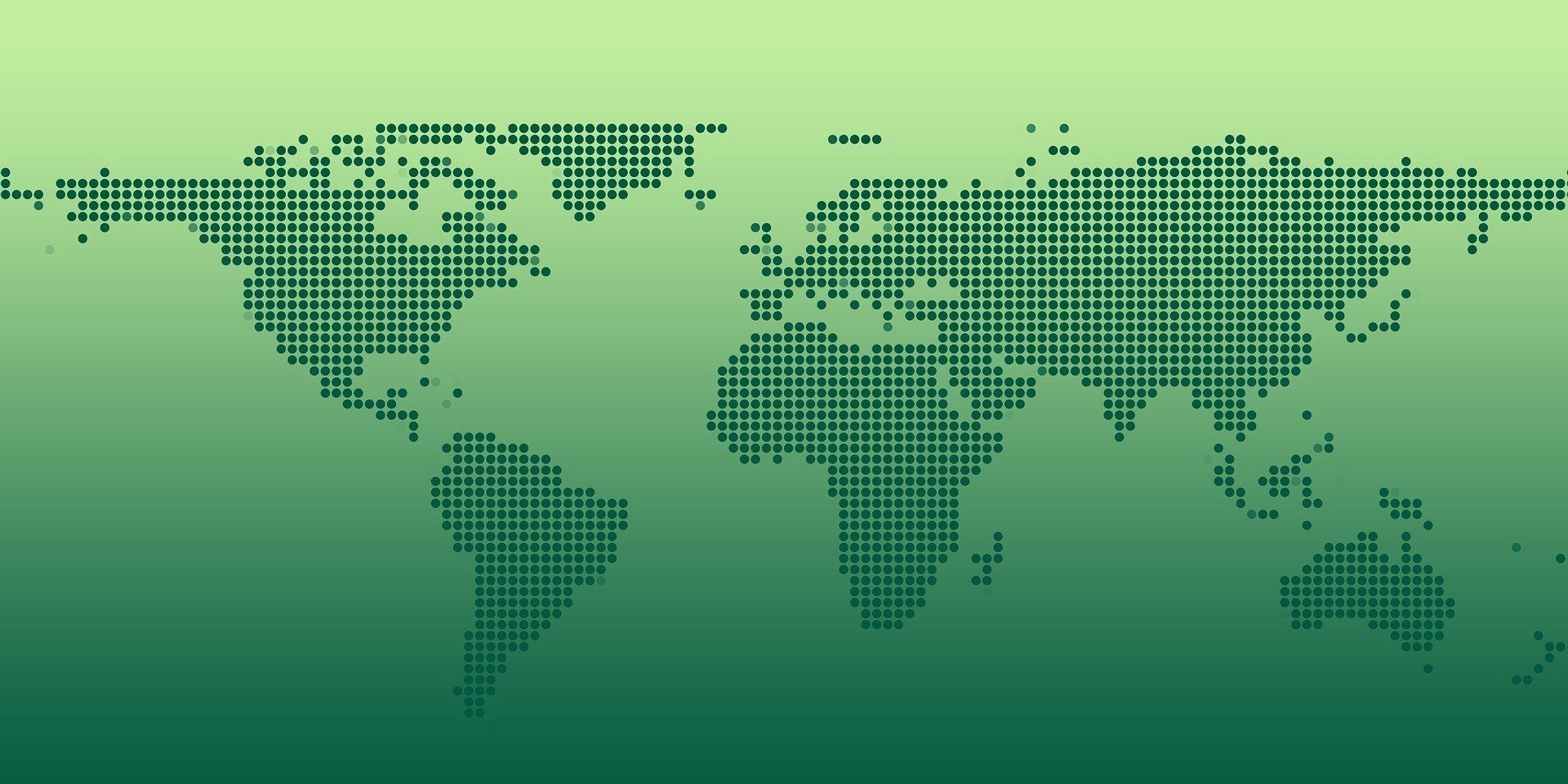 continents globe