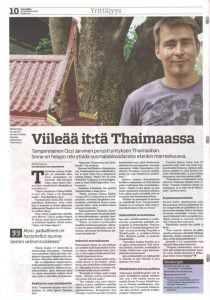 Finnish Newspaper Cool It in Thailand