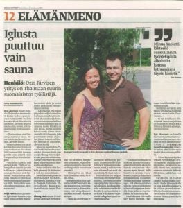 Finnish Newspaper Missing a Sauna