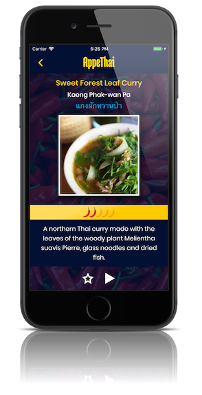 thai food app curry