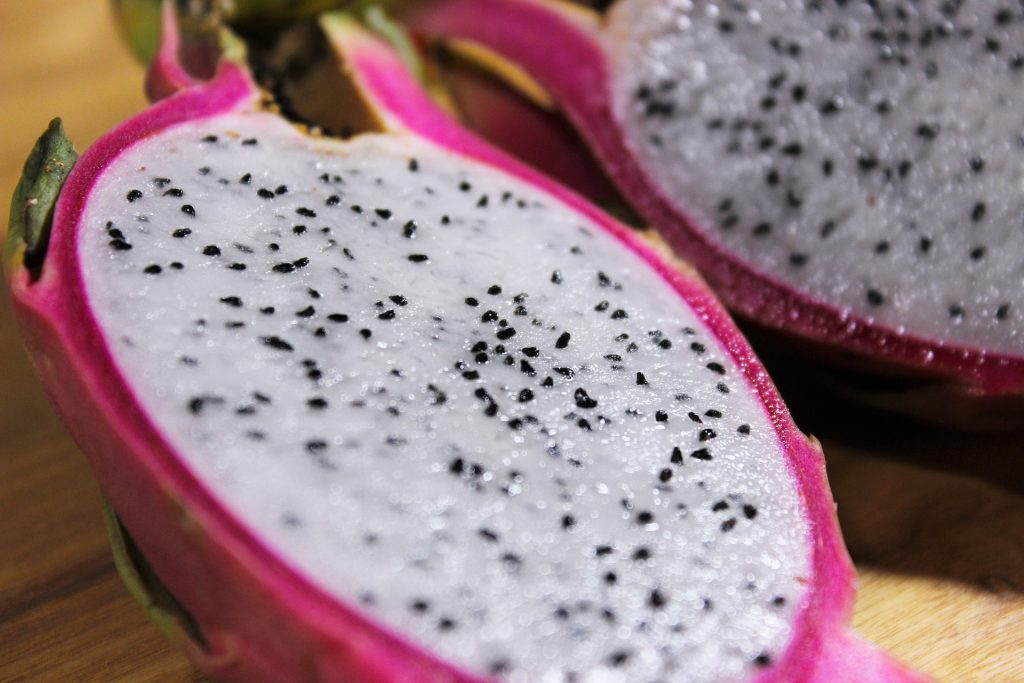 dragon fruit cut open
