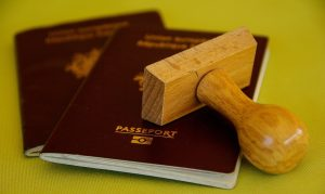 passports and stamper