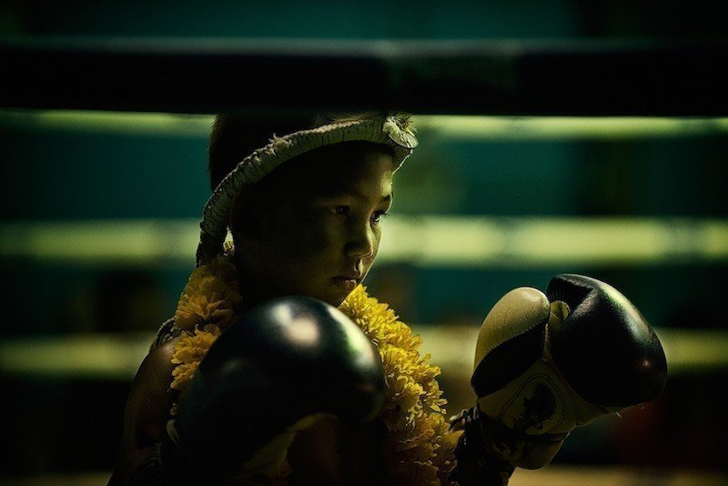 muay thai child boxer