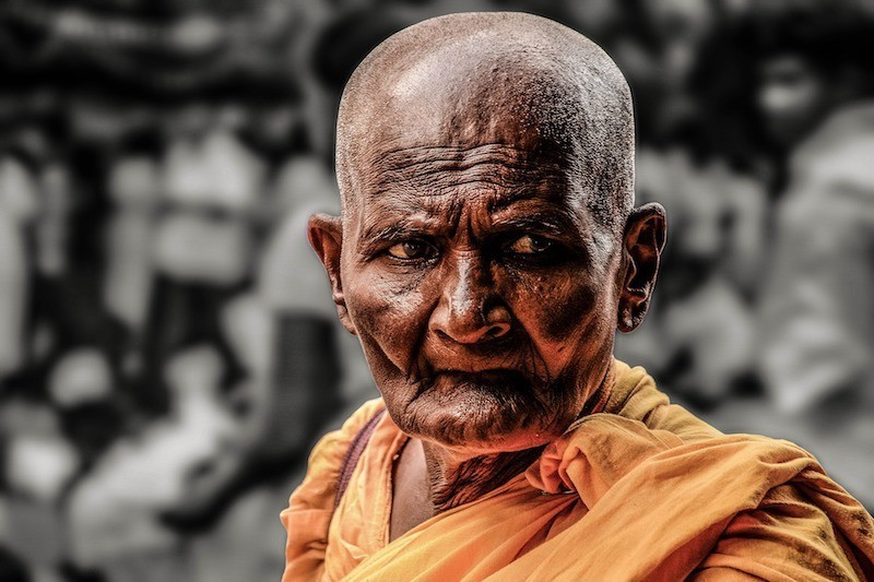 old Thai monk