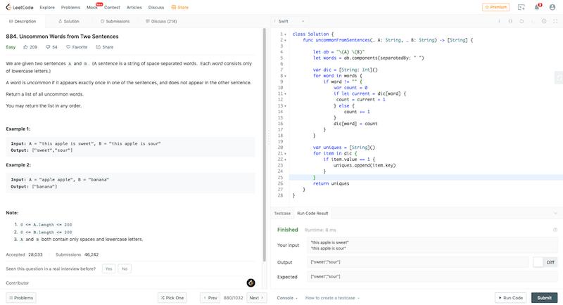 leetcode coding challenge