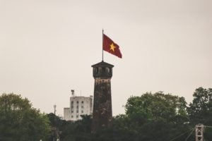 Vietnamese Flag Hue Citadel