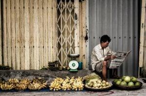 vietnamese man groceries