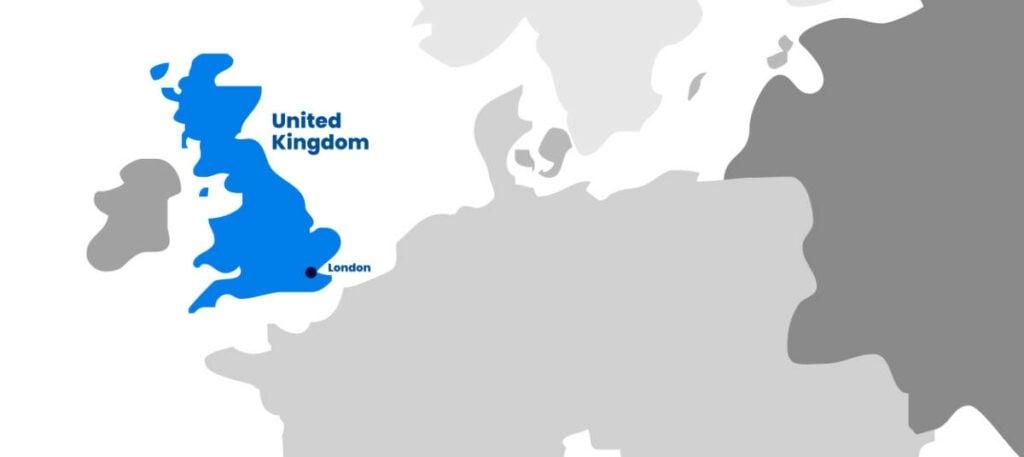 Iglu UK map