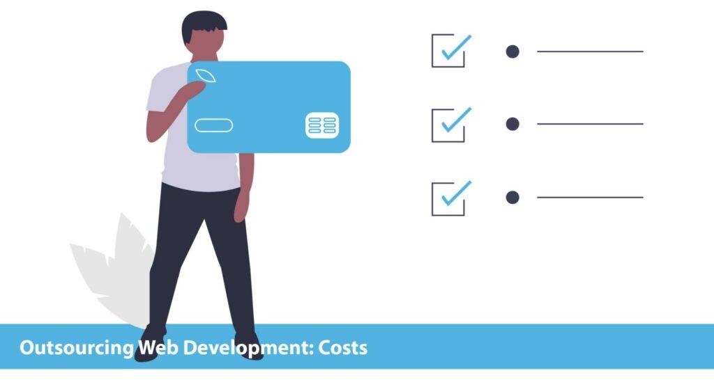 outsource web development costs
